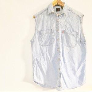 Levi's Button Up Light-wash Denim Shirt